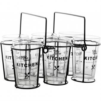 """Gläser im Korb """"The Kitchen"""""""