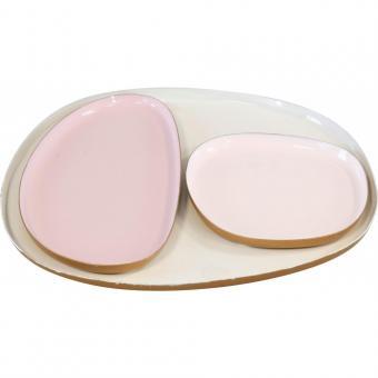 Tabletts  Deluxe 3er Set, rosé