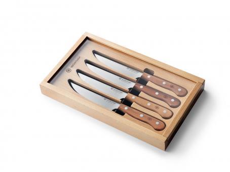 Steakmessersatz 4 Stück, Pflaumenholzgriff