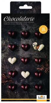 Silikonbackform/Gussform Chocolaterie Herz 2 Stk